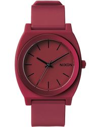 Nixon Ano Time Teller P Dark Red Watch - Lyst