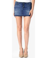 Hudson Debbie Mini Skirt - Lyst