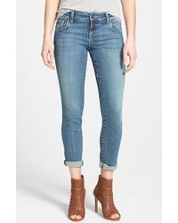 Kut From The Kloth 'Adele' Distressed Crop Boyfriend Jeans - Lyst