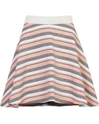 Pinko - Striped Basketweave Skirt - Lyst