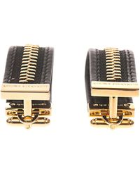 Alexander McQueen Zip Leather Cufflinks - Lyst