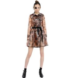 RED Valentino Birds Printed Trench Coat - Lyst