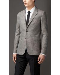 Burberry Slim Fit Silk Blend Jacket - Lyst