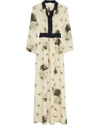 Suno Printed Silk Dress - Lyst