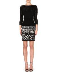 Roberto Cavalli Animalprint Knit Dress Black Multi - Lyst