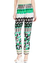 Alysi Printed Trousers - Lyst