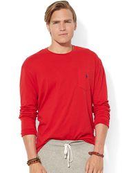 Polo Ralph Lauren Classic Fit Long Sleeved Jersey Pocket Crewneck - Lyst