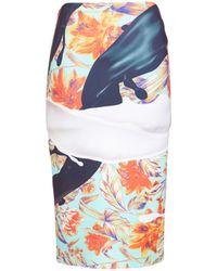 Clover Canyon Spilled Ink Graphic Neoprene Skirt - Lyst