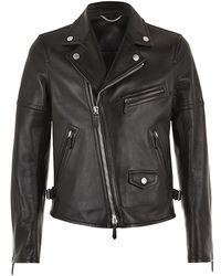 Burberry Prorsum Leather Biker Jacket - Lyst