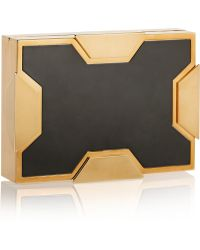 Lee Savage Space Small Twotone Box Clutch - Lyst