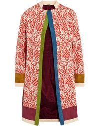 Vineet Bahl Printed Cotton and Silk Blend Coat - Lyst
