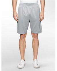 Calvin Klein White Label Performance Reflective Training Shorts gray - Lyst