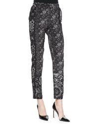 Nanette Lepore Cristallo Printed Silk Pants - Lyst