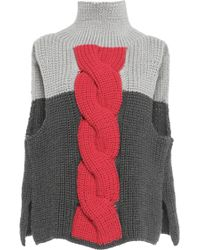 Vika Gazinskaya | Cable Knit Front Pullover | Lyst