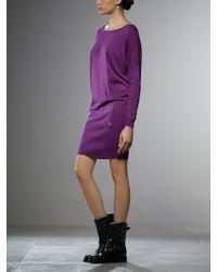 Patrizia Pepe Short Knitted Dress - Lyst
