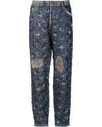 Ashish Blue Beaded Jeans - Lyst
