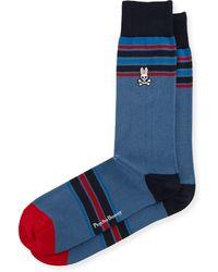 Psycho Bunny - Wide-stripe Crew Knit Socks - Lyst