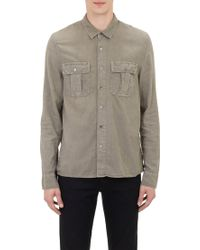 James Perse Two-chest-pocket Stag Shirt - Lyst
