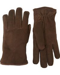 Barneys New York Suede Gloves - Lyst