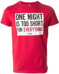 Moschino Printed T-shirt - Lyst