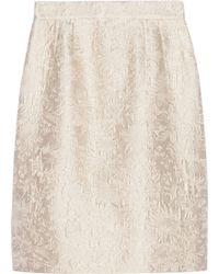 Dolce & Gabbana Cotton and Silk Blend Jacquard Skirt - Lyst
