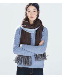 Zara Soft Double-layered Scarf - Lyst
