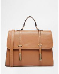 ASOS | Tab Front Satchel Bag | Lyst