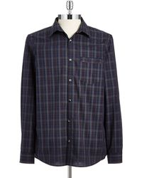 Calvin Klein Checked Cotton Sport Shirt - Lyst