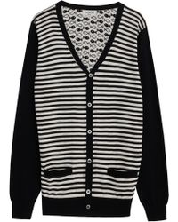 Paul & Joe Fish Print Cardigan - Lyst