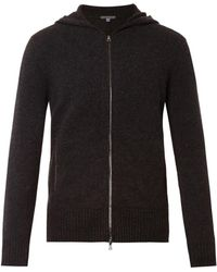 John Varvatos Cashmere Hooded Cardigan - Lyst