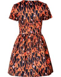 Matthew Williamson Cotton Blend Floral Twine Print Dress - Lyst