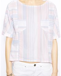 Twenty 8 Twelve Doll Candy Stripe Cotton Top - Lyst
