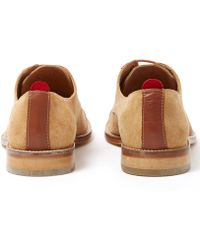 Oliver Spencer - Tan Banbury Suede Derby Shoes - Lyst