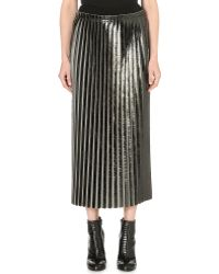 Damir Doma Pleated Metallic Skirt - Lyst
