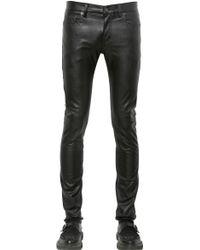 Saint Laurent 15cm Skinny Faux Leather Jeans - Lyst