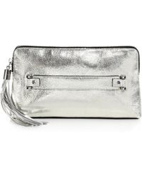 Milly Rivington Metallic Clutch - Lyst