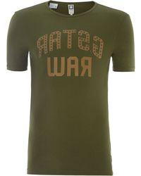G-star Raw Crew Neck T Shirt - Lyst