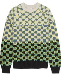 Chloé Embroidered Wool Sweater - Lyst