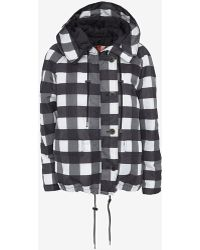 MSGM Checkered Puffer Jacket - Lyst