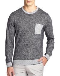 Hugo Boss Lonero Contrast Cotton & Linen Sweater - Lyst
