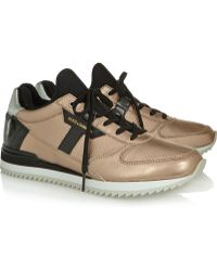 Dolce & Gabbana Nigeria Metallic and Patentleather Sneakers - Lyst