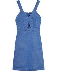 Stella McCartney Cutout Denim Mini Dress - Lyst