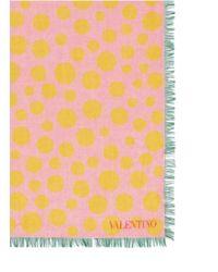 Valentino Mirror Dot Print Cashmere-Silk Scarf multicolor - Lyst