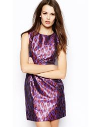 French connection Disco Leopard Dress - Lyst