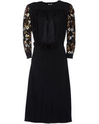 Miu Miu 34 Length Dress - Lyst