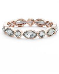 Anne Klein - Crystal Stretch Bracelet - Lyst