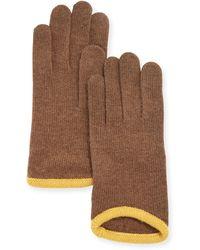 Portolano Cashmere-Blend Tech Knit Driving Gloves - Lyst