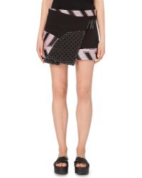 Opening Ceremony Mallory Contrast-Panel Wrap Skirt - For Women - Lyst