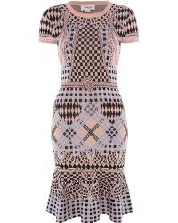 Temperley London Reef Knit Fit Flare Dress - Lyst