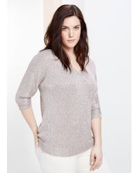 Violeta by Mango Sequin Sweater - Lyst